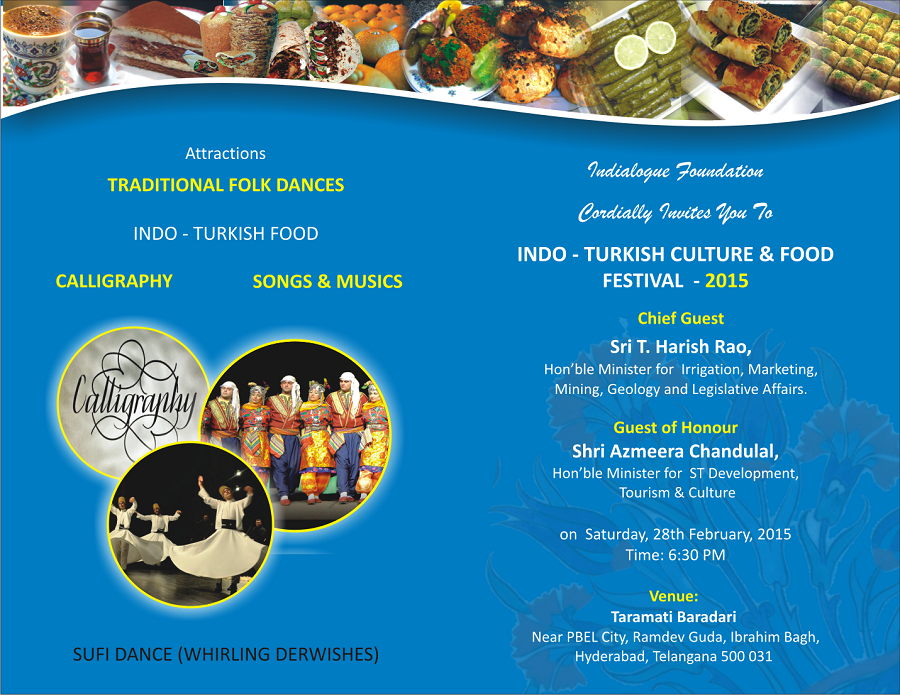 If Cordially Invites All To Indo Turkish Culture And Food Festival