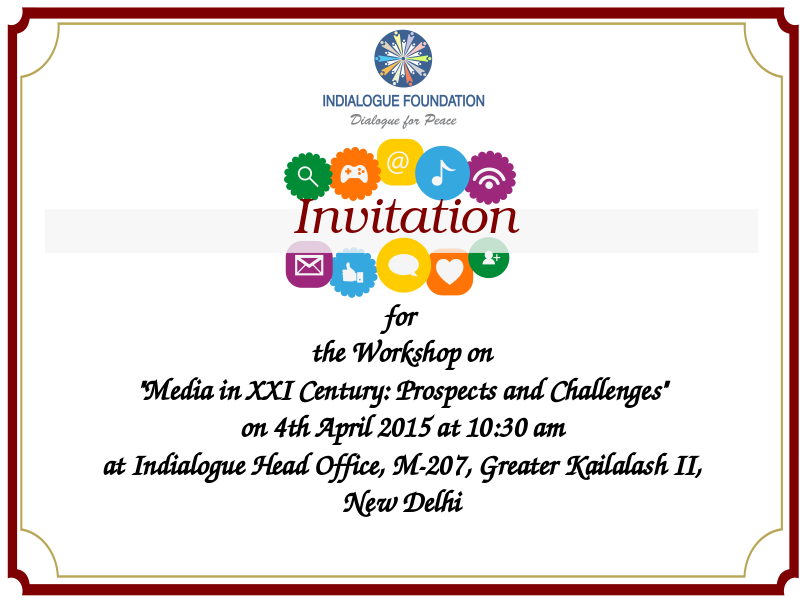 Invitation For The Workshop On Media In Xxi Century Prospects And