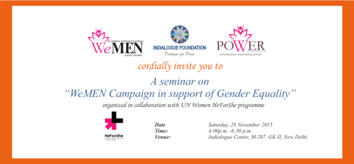 """Invitation for """"WeMEN Campaign in support of Gender Equality"""""""