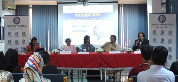 Panel discussion on 'Women Continue to Contribute to Social, Economic, Cultural and Political Achievement' and Indialogue Photo Story Contest Award Ceremony