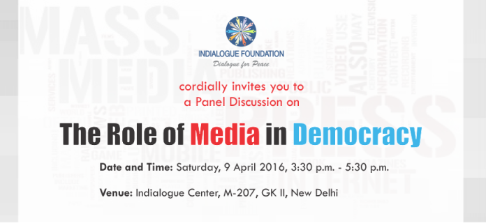 "Invitation for a panel discussion on ""The Role of Media in Democracy"""