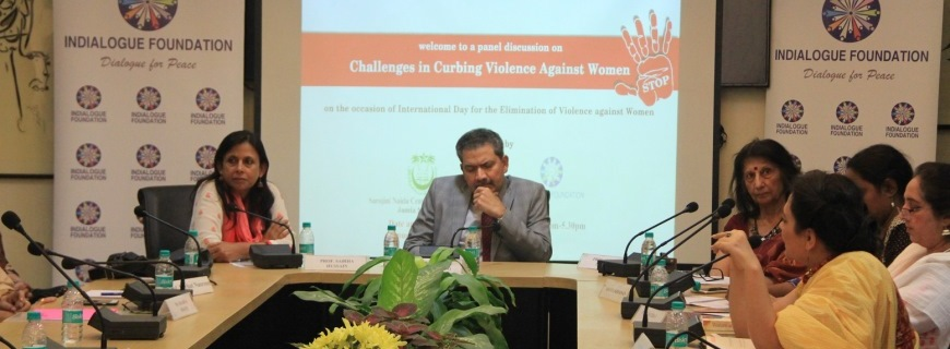 A panel discussion on Challenges in Curbing Violence against Women