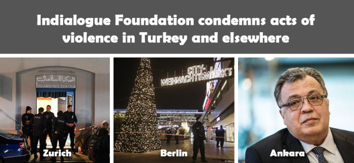 Indialogue Foundation condemns acts of violence in Turkey and elsewhere
